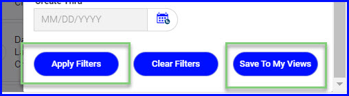 apply save filters buttons