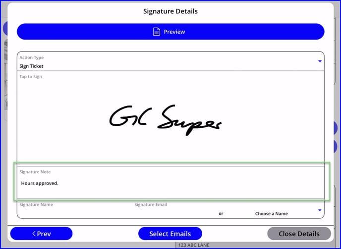 Signature note