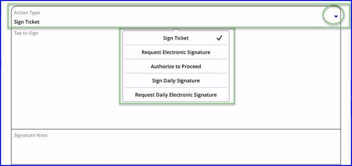 signature action type