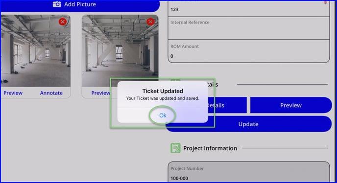 ticket updated